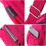 Ladies Nylon Crossbody Bags Waterproof Travel Bag Retro Shoulder Bags