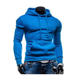 Men's Fall Winter Casual Fashion Solid Color Front Pocket Slim Hoodies