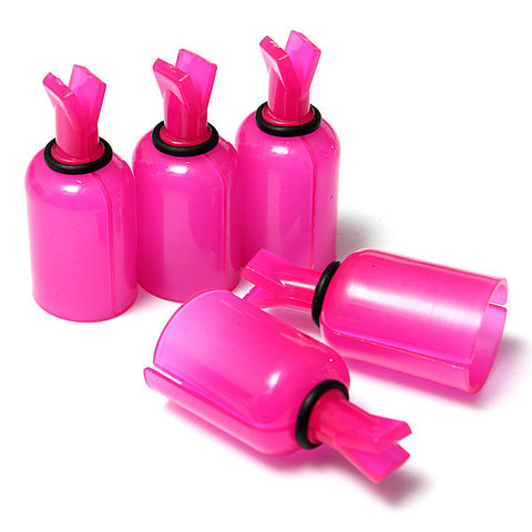 5 Pcs Acrylic Nail Art UV Gel Polish Remover Caps Cleaner Clip Rose Red