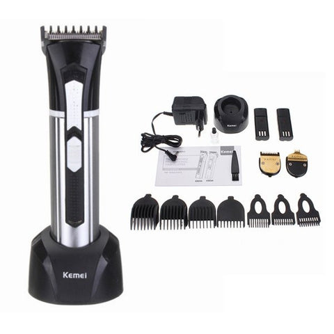 Kemei KM-3007 3 in 1 Men Electric Rechargeable Hair Trimmer Beard Shaver Clipper Groomer