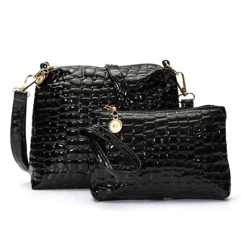 Stylish Crocodile Pattern Crossbody Bag