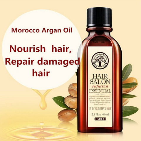 LAIKOU Moroccan Pure Argan Oil 60ml Hair Essence Dry Scalp Treatment