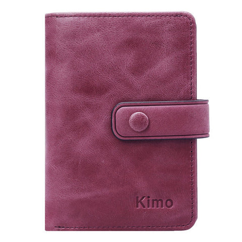 12 Card Slots Genuine Leather Minimalist Elegant Small Wallet Card Holder Purse For Women