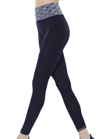 Sexy Quick-dry Space Dye Sports Pants Yoga Leggings Ninth Pants For Women