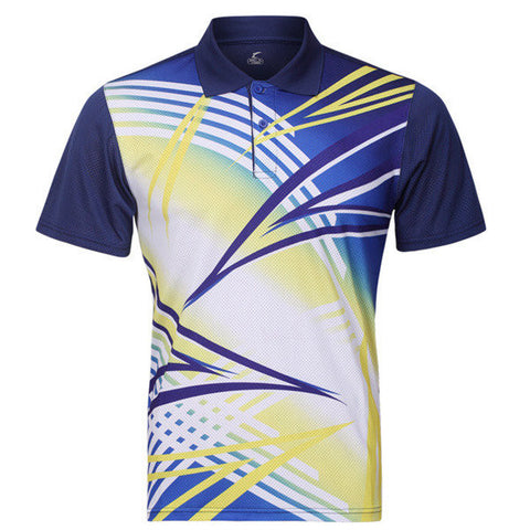 Badminton Table Tennis Competitions Summer Training Sports Quick Drying Suit Tops For Mens - shechoic.com