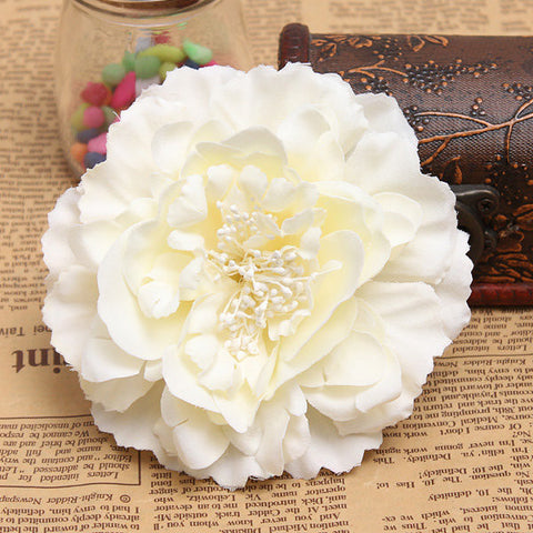Bridal Headpieces Fabric Peony Flower Hair clips Corsage Brooch