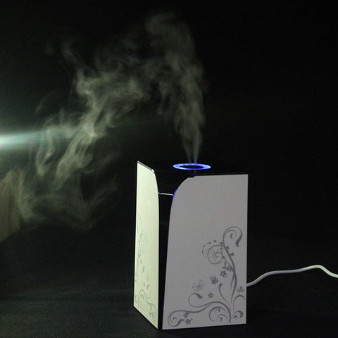 USB Mini Ultrasonic Air Purifier Humidifier Elegant Diffuser Portable