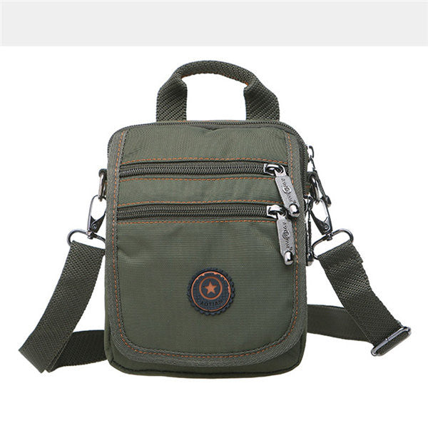 Men Nylon Portable Multi-pocket Shoulder Bags Crossbody Bags Waist Bags