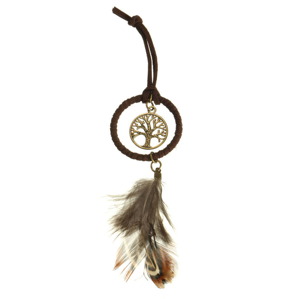 Dream Catcher Life Tree Feather Keychain