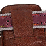 Men Genuine Leather Outdoor Small Waist Bag Phone Cards Bags Casaul Wallet