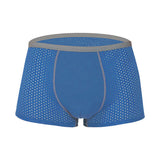 Mens Elastic Soft Modal Boxers Breathable Mesh U Convex Sexy Underwears