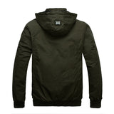 Men's Thicken Windproof Waterproof Warm Jacket Detachable Hood Zipper Pocket Coat
