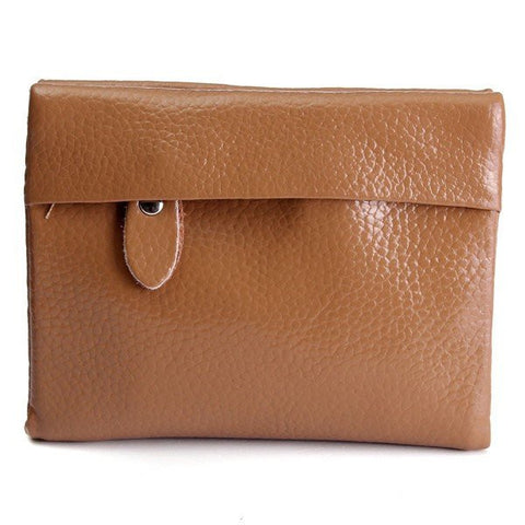 Casual Genuine Leather Short Wallet Card Holders Purse