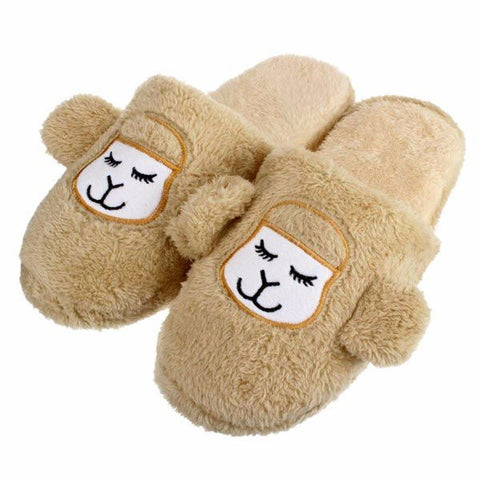Unisex Cute Cartoon Sheep Slip On Flat Indoor Home Shoes