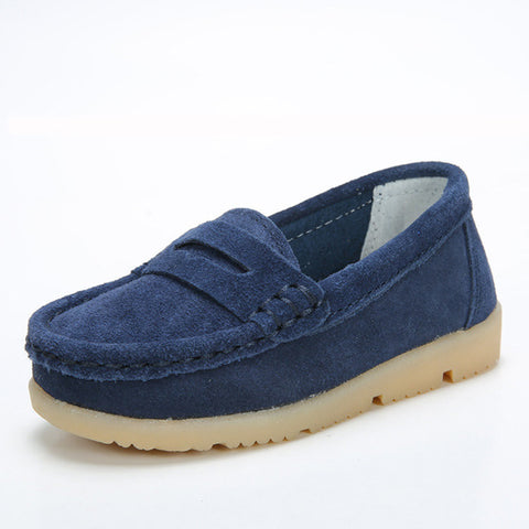 Children Loafers Shoes Girls Boys Antislip Boat Footwear Frosted Sneakers