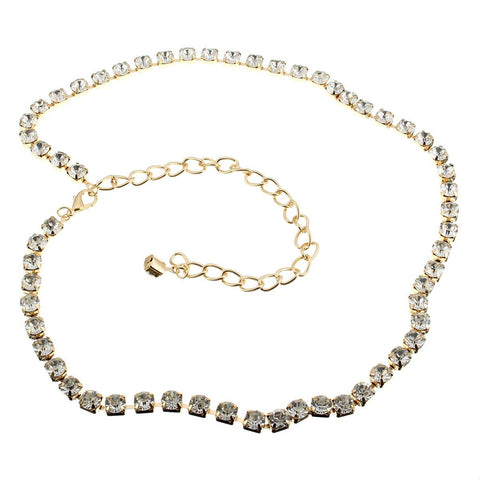 20pcs Rhinestone Chain Belt