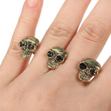 Big Eye Skull Double Finger Rings