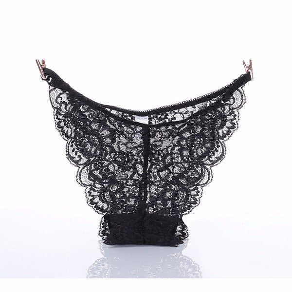 Sexy Transparent Lace Breathable Seamless Briefs Low Waist Panties For Women