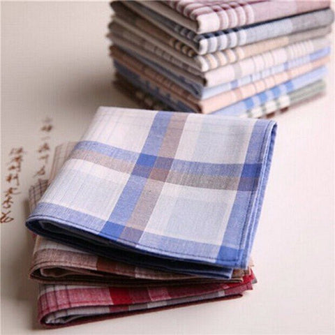 15x Mens Handerchiefs Cotton Pocket Square Hanky Handkerchief 40x40cm - shechoic.com