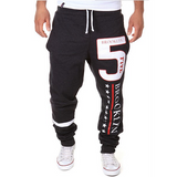 Men's Casual Elastic Gym Sports Pants Letters Printing Harem Pants