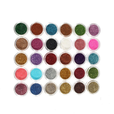 30 Colors Makeup Glitter Powder Eyeshadow Pigment Eye Shadow Cosmetic Nail Decoration