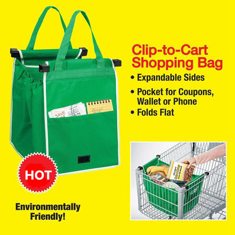 1 PCS Large Capacity Foldable Bags Supermarket Green Eco-friendly Shopping Bags Reusable Handbags - shechoic.com