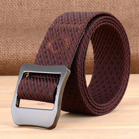 120CM Mens Nylon Twill Outdoor Military Tactical Belt Casual Alloy Pin Buckle Waistband