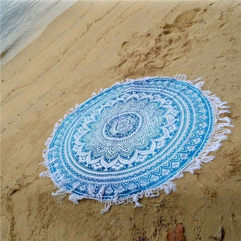 150CM Beach Scarf Shawl Blue Beach Towel Cloak Tapestry Wall Hanging Bedspread - shechoic.com