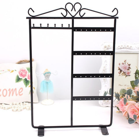 6 Hooks 32 Holes Metal Jewelry Display Stand
