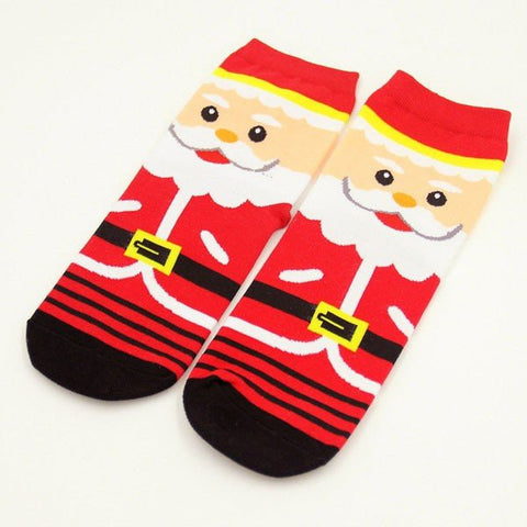 Men Women Cute Christmas Deer Cartoon Bear Sox Santa Claus Snowman Cotton Warm Socks