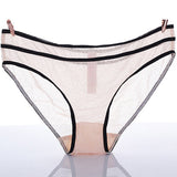 Sexy See Through Mesh Seamless Briefs Breathable Panties For Women