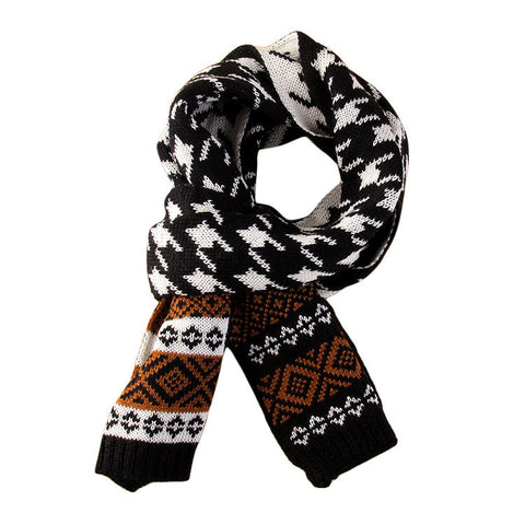 Men's Fashion Imitation Cashmere Warm Wind Classic Spot Plain Knitted Scarves