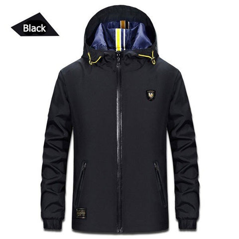 Casual Sport Jackets Men's Spring Outdoor Lightweight Water Repellent Hoodies Windbreak Coat