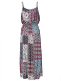Bohemian Women Strap High Waist Maxi Dress Summer Beach Dress - shechoic.com