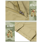 Plus Size Mens Summer Cotton Casual Solid Color Fiith Pants Big Pockets Cargo Shorts