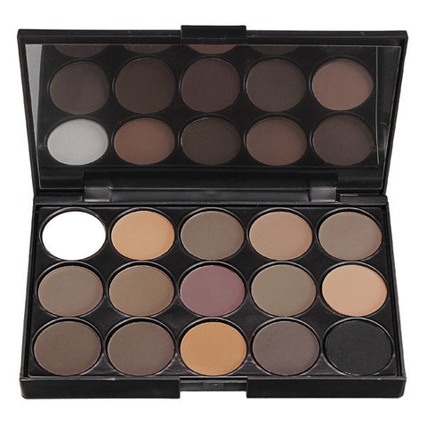 Professional 15 Colors Smoked Eyeshadow Palette Warm Matte Shimmer Makeup Cosmetic