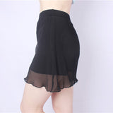 Plus Size Sexy Mesh Ruffle Pantskirt Modal Boyshorts For Women