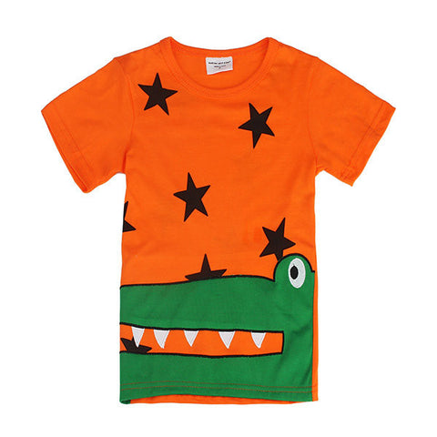 Crocodile Baby Children Boy Pure Cotton Short Sleeve T-shirt Top