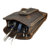 Men Cow Leather Waist Bag Genuine Leather Wallet Purse