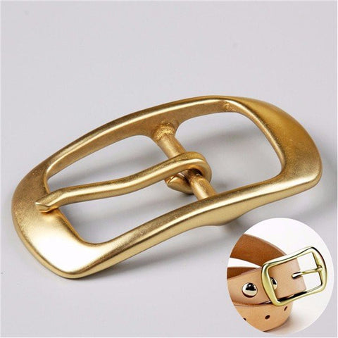 Solid Brass Pin Belt Buckle Center For Bar Belt Strap