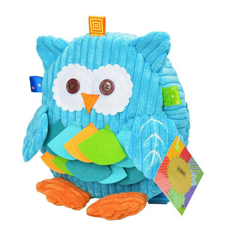 Cute Cartoon Baby Backpack 3D Animal Plush Package Snap Toys Bag