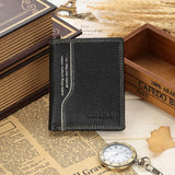 Men Retro Soft Genuine Leather Wallet Horozontal Vertical Purse Card Holder