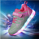 Children LED Sneaker Colorful Luminous Shoes Kids Sports Footwear Boys Girls Casual Rubber Sneakers