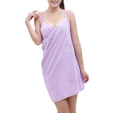 Sexy Deep V Spaghetti Strap Bath Dress Quick-dry Bathrobe For Women