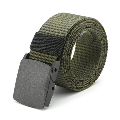 120CM Men Women Nylon Belt Military Tactical Durable Buckle Pants Casual Strip - shechoic.com