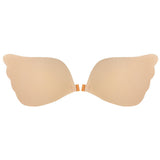 Women Sexy Strapless Silicone Invisible Bra Deep V Front Closure Gather Bras