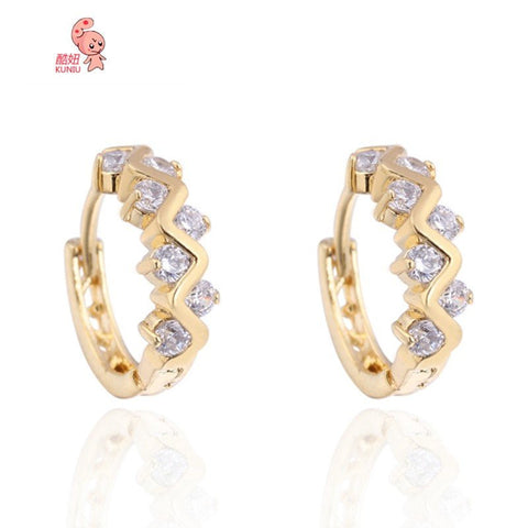 18K Gold Plated Zircon Earrings