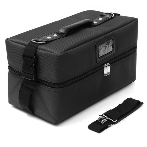 Professional Makeup Cosmetic Organizer Case Jewrllery Storage Trinket Zipper Box Holder