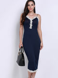 Women Sexy Plunge V-neck Sleeveless Cami Dress