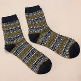 Men's Winter Warm Thick Woolen Mixture Casual Socks